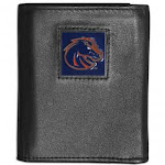 (Boise State Broncos) - NCAA Leather Tri-Fold Wallet