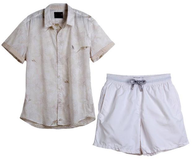 Camisa Side Walk R$ 169 Short Vilebrequin R$ 650 (Foto: Carlos Bessa)
