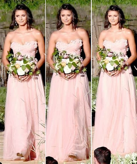 Nina Dobrev at Julianne Hough?s wedding in Coeur d'Alene