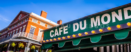 Image: Cafe Du Monde New Orleans Picture Large Canvas Print, Buy Stock Photo, Metal Wall Art, High Resolution Image