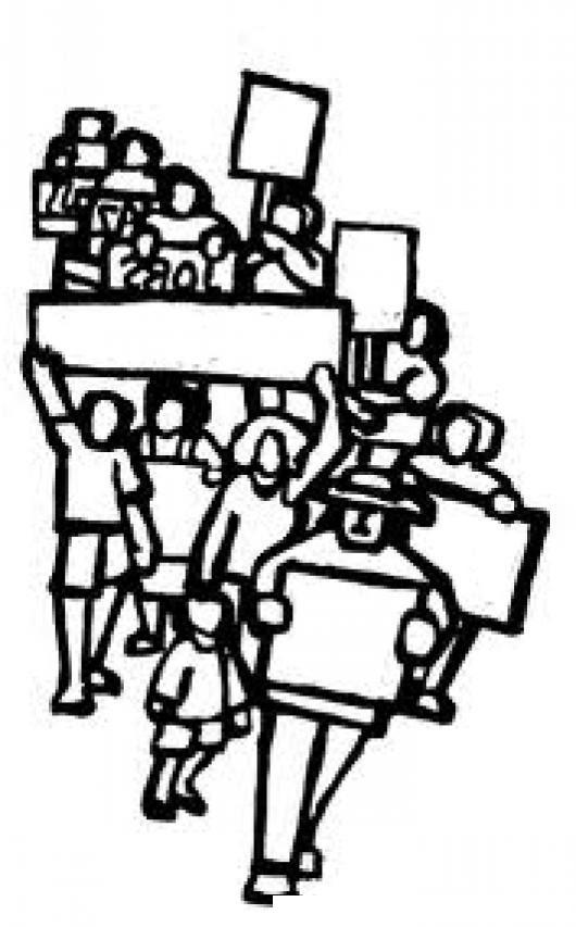 Manifestacion Pacifica Dibujo De Un Bloqueo De Carreteras Para