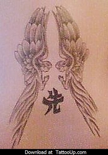 sad angel tattoo. sad angel tattoo
