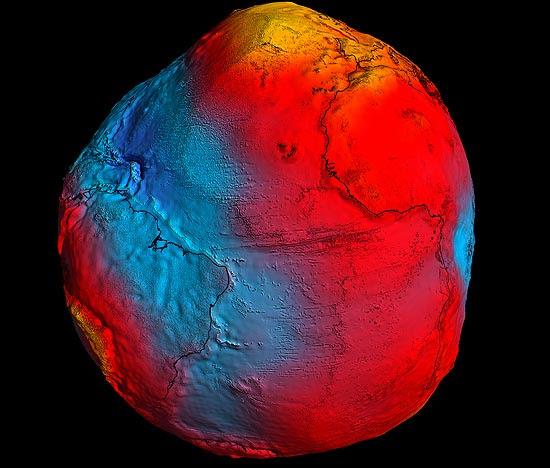 Modelo da gravidade na Terra fornecerá dados oceanográficos e da estrutura interna do planeta