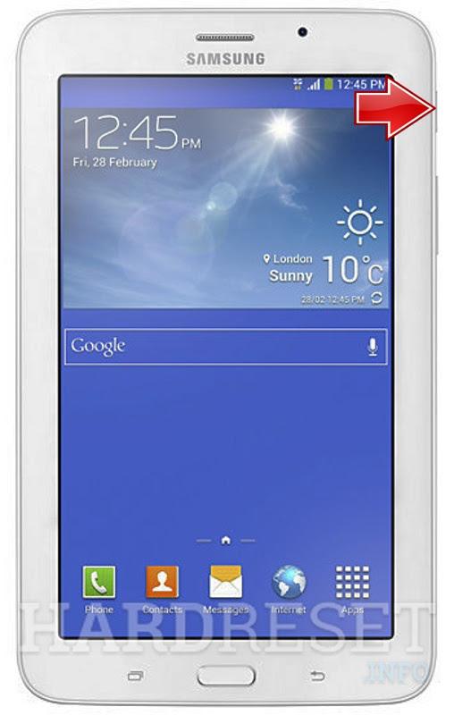 Hard Reset SAMSUNG T116 Galaxy Tab 3V | dk hard reset