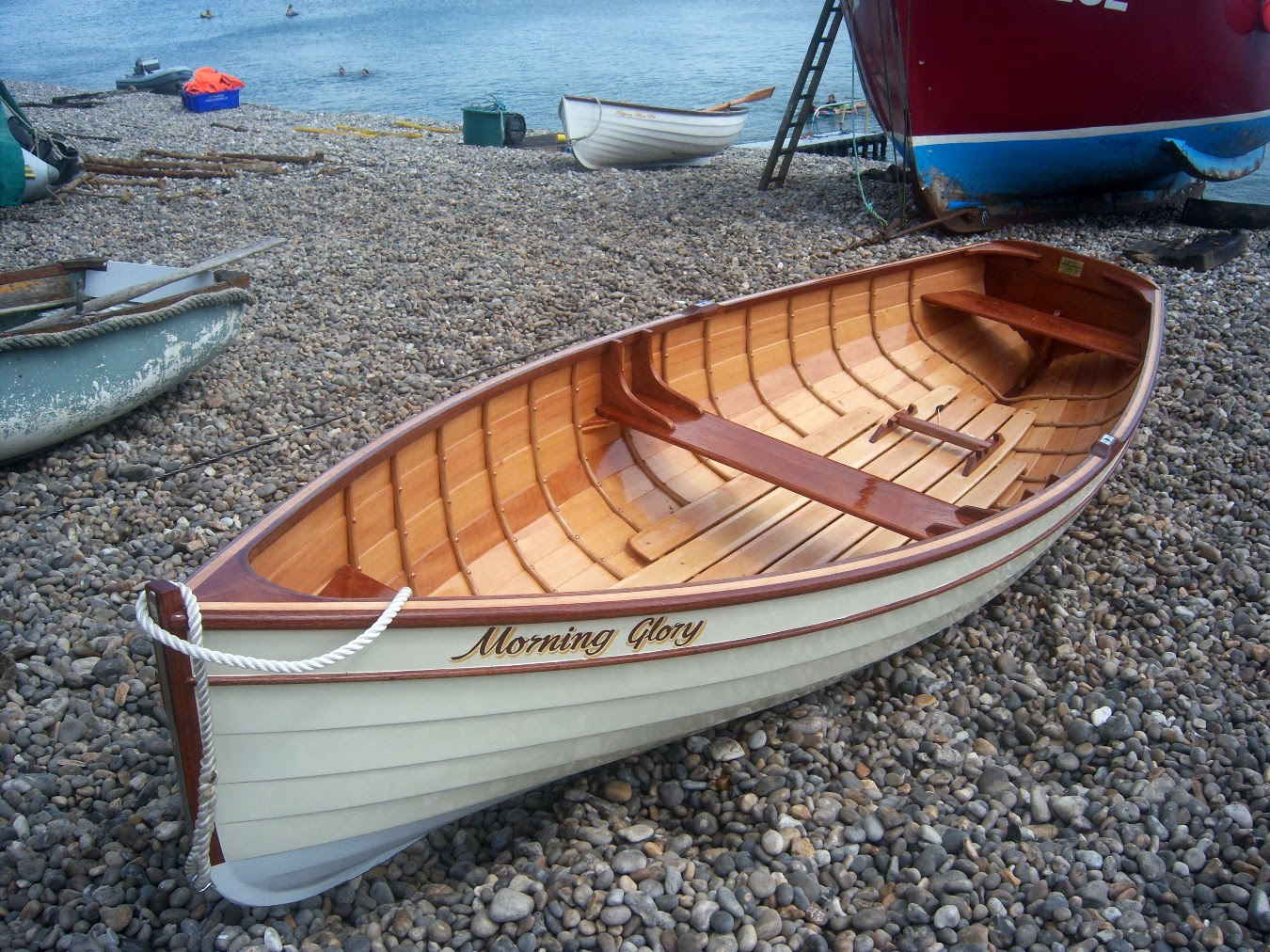Adam Newton of Beer, Devon builds a gorgeous 12ft glued clinker rowing