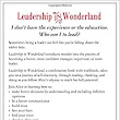 Leadership in Wonderland: Because sometimes leadership feels like you're falling down the rabbit hole: Susan Goldberg, Rebecca Lacy: 9781533661968: Amazon.com: Books