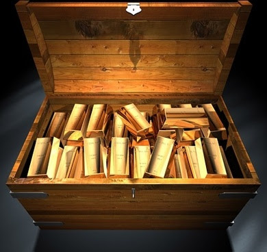 a box of gold bars fine picture