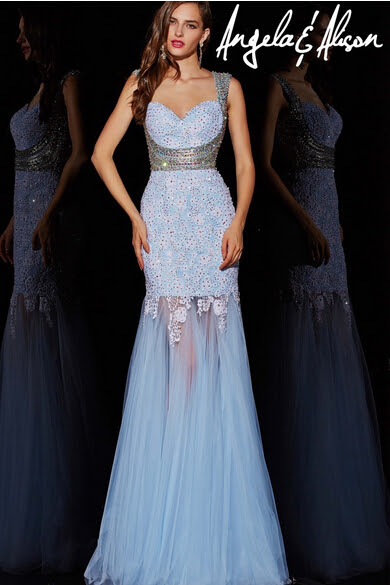 Ladies beaded evening dresses