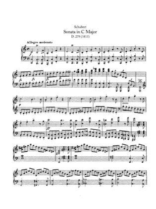 piano sonata   major  schubert  piano sheet
