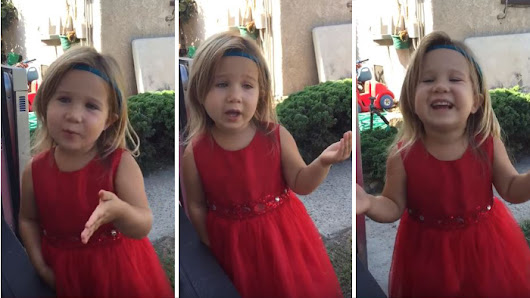 Cute Flower Girl Schools Dad On How He Doesn't Understand Weddings! - Faithreel.com