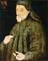 The Harvard Portrait of Chaucer. 15th-century.