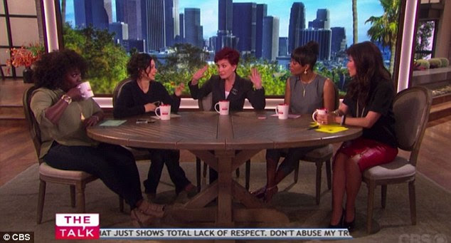 First hand knowledge:The Talk hosts were discussing actress Eva Amurri Martino's revelation that she had to fire her nanny for sending an inappropriate text saying she wanted to 'F**k [his] brains out' when Sharon decided to share