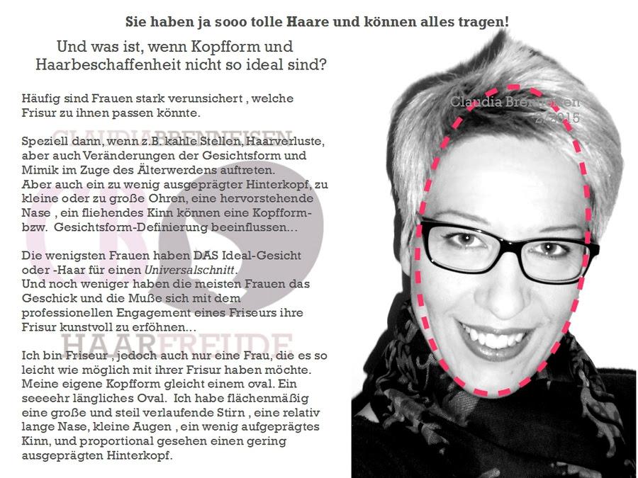 Die Kopf Und Gesichtsform Friseur Claudia Brenneisen Entspannt