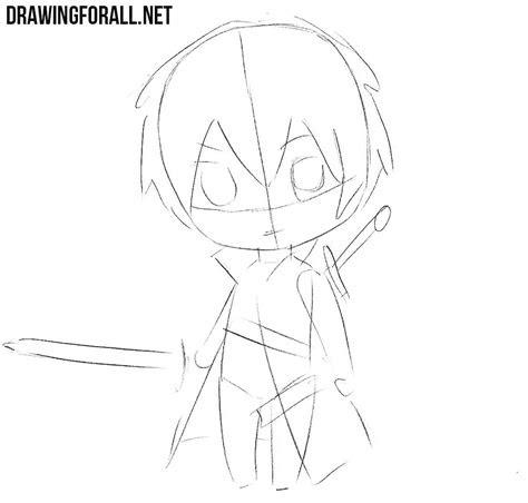 draw chibi kirito drawingforallnet