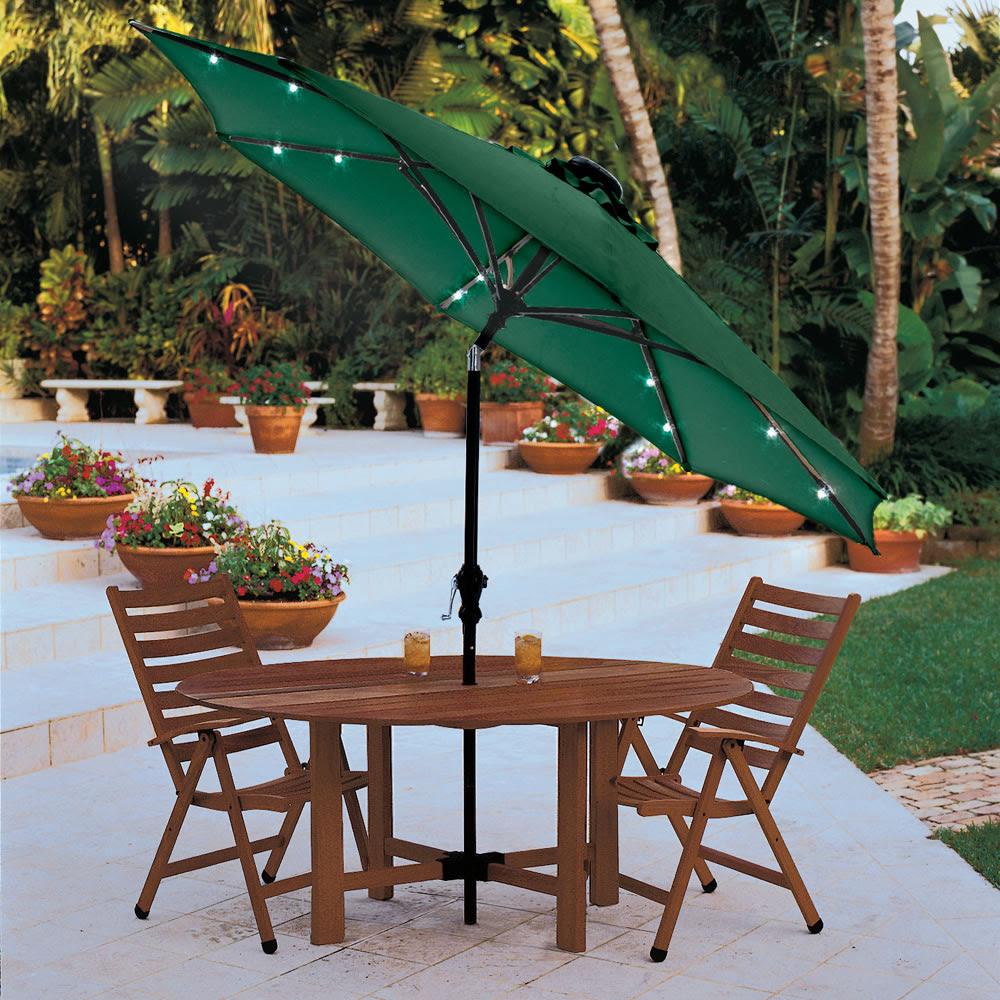 Lighted Patio Umbrella Providing an Amusing Nuance - HomesFeed