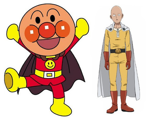 Anpanman, the inspiration of One-Punch Man