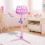HANMUN Kids Karaoke Machine Microphone Stand (Pink) Karaoke Microphone Stand