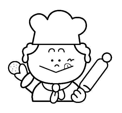Dibujo De Cocinero 2 Pintado Por Rios En Dibujosnet El Día 17 11 11