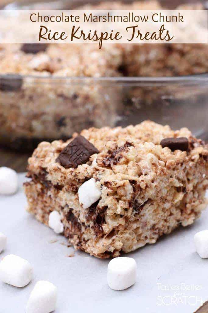 Chocolate Chunk Rice Krispie Treats