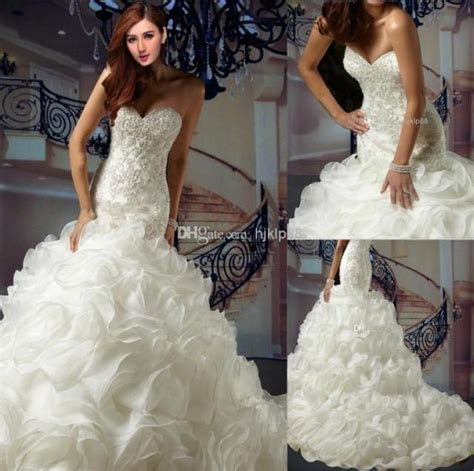 Cheap Plus Size Wedding Dresses   Discount Organza