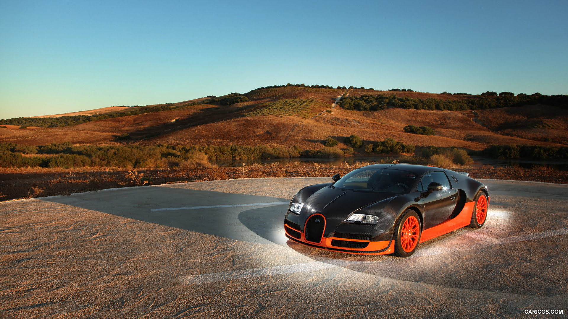 Bugatti Veyron Super Sport  Orange \u0026 Black  HD Wallpaper 56