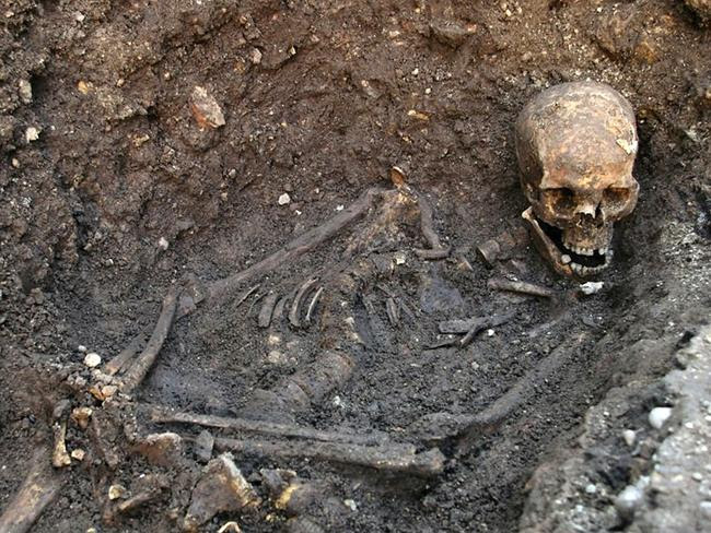 Royal mystery ... the remains of Richard III, which were discovered underneath a car park