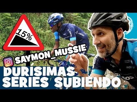 DURISIMAS SERIES EN SUBIDA con SAYMON MUSSIE. Ciclismo Vlog - Alfonso Blanco
