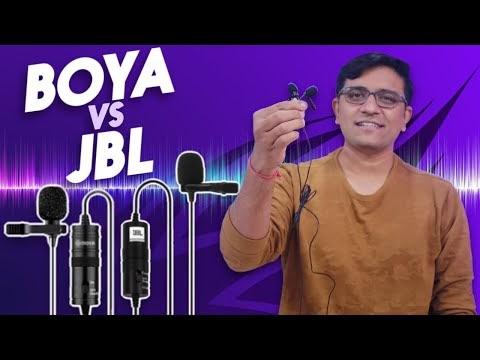 Boya BYM1 Vs JBL CSLM20B - Budget Mic REAL LIFE COMPARISON - Best for Youtubers!