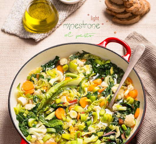 Minestrone (light) al pesto