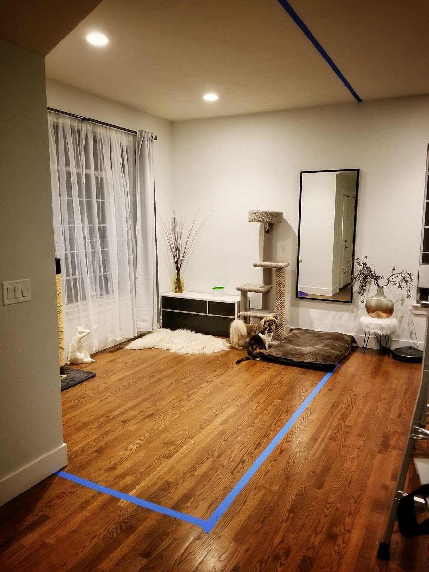 Reddit User Turns His Living Room Into A Home Office And It Looks Amazing Demilked