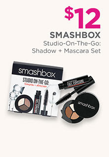 Smashbox Studio-On-The-Go Shadow & Mascara set is $12.