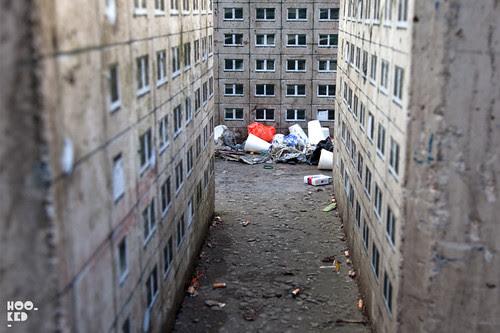 German street artist Evol's Miniature London Tower Blocks