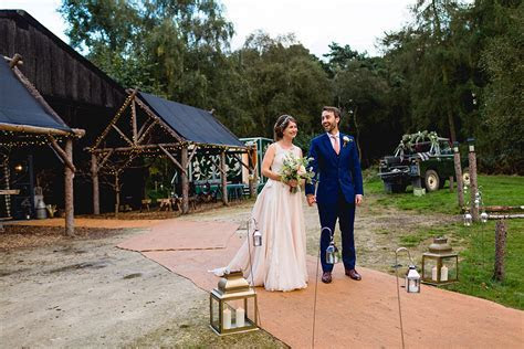 A Blush Pink Wedding Dress for a Charming Rustic Woodland