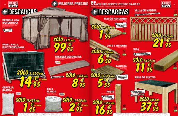 Casas de madera prefabricadas pergolas brico depot for Precio parquet bricodepot
