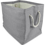 """15"""" Gray Rectangular Paper Storage Bin by Christmas Central"""