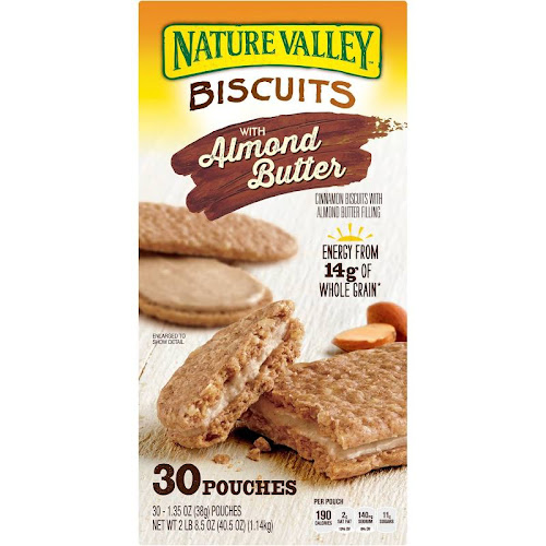 Nature Valley Biscuits with Almond Butter - 30 count, 1.35 oz each