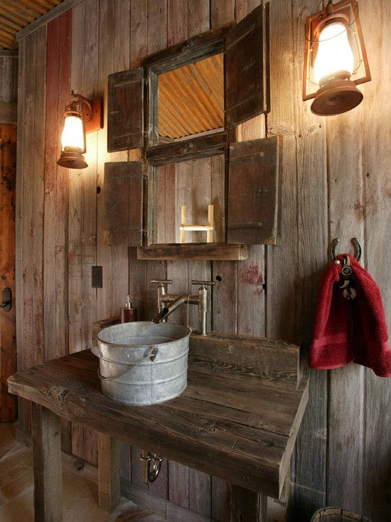 Rustic wash room