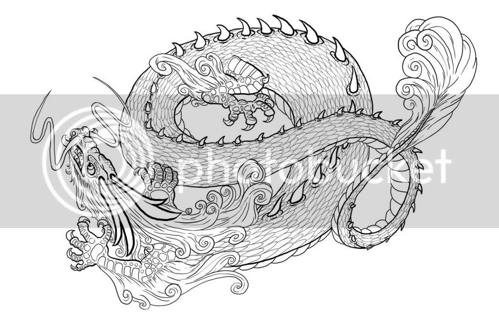 ausmalbilder chinesische drachen  ausmalbilder