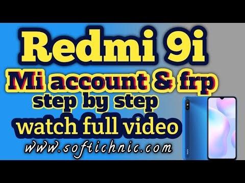 Redmi 9i - (dandelion) mi account free file | Redmi 9i mi account frp unlock by softichnic