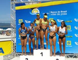 Aline e Larissa Nunes, vice-campeãs do Brasileiro de Seleções de Vôlei de Praia Sub-19 (Foto: Horácio CF Zone/Divulgação/CBV)