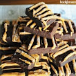 Skinny Fudge Brownies with Butterscotch Drizzle
