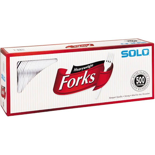 Solo Plastic Heavyweight Forks - 500 count