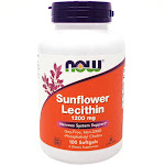 Sunflower Lecithin 1200 mg By Now Foods - 100 Softgels