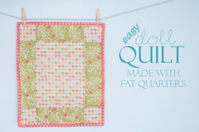 Stitched By Crystal Tutorial Fat Quarter Doll Quilt