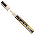 American Metalcraft Sma510v4wt Chalk Markers, Small Tip, White - 4 pack