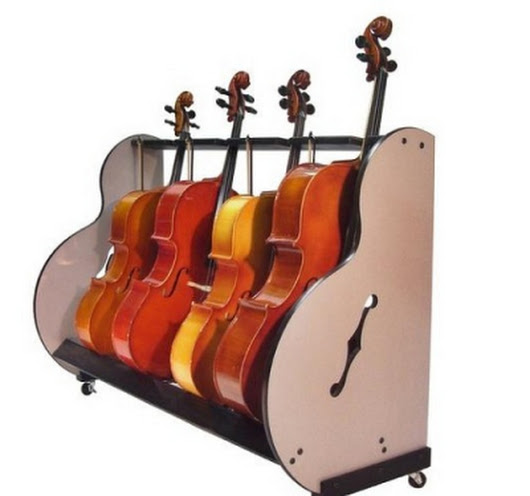 Cello Storage & Transport Cart For Music Classrooms