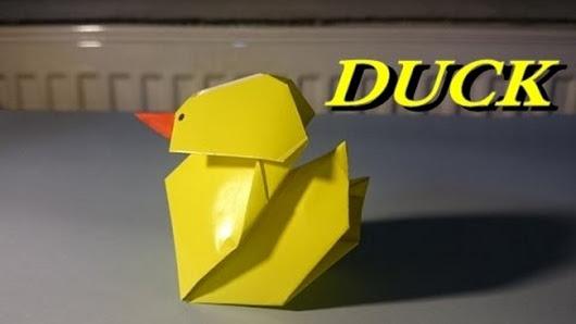 Kagittan Ordek Yapimi Origami Duck Easy