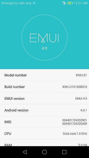 Huawei Honor 5X B310 Marshmallow