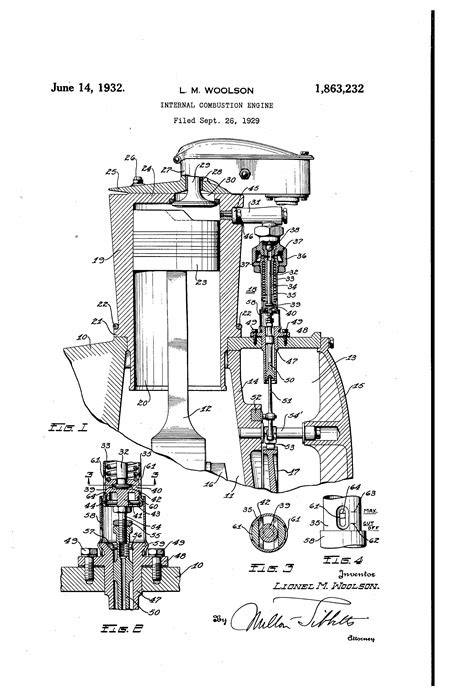 Patent US1863232 - Internal-combustion engine - Google Patents