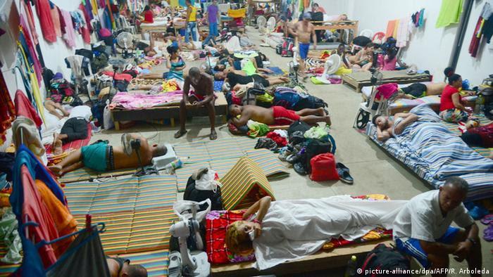 Kolumbiena kubanische Flüchtlinge in Turbo